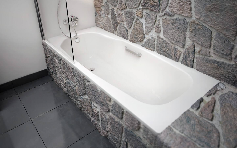 акриловая ванна обложенная камнем